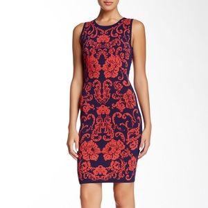 NWT Cynthia Steffe Briella Dress, navy/red